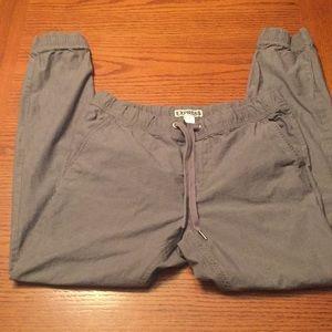 Express Men, cotton gray joggers, size 30